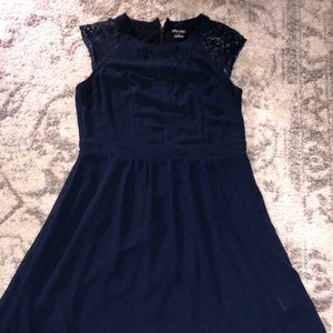 Nordstrom lace/chiffon lined dress, XL